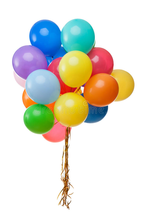被隔绝的颜色气球 库存照片