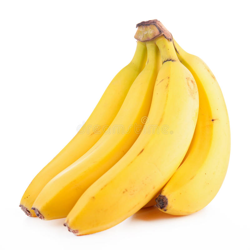 被隔绝的香蕉 库存照片