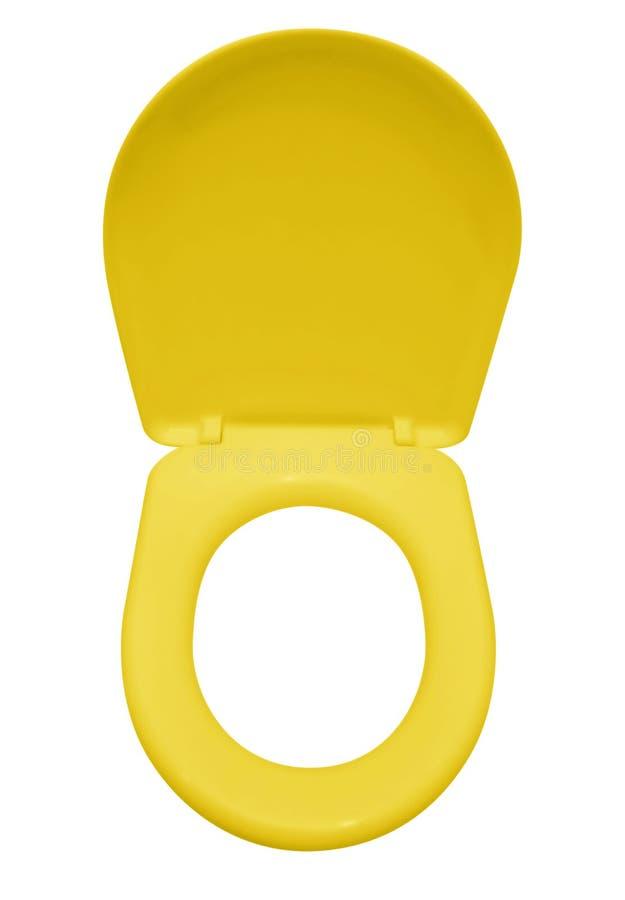 被隔绝的马桶座-黄色 免版税库存照片