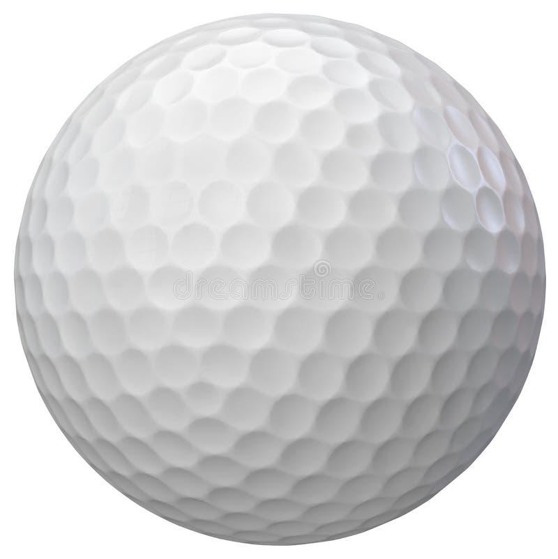 被隔绝的高尔夫球 向量例证