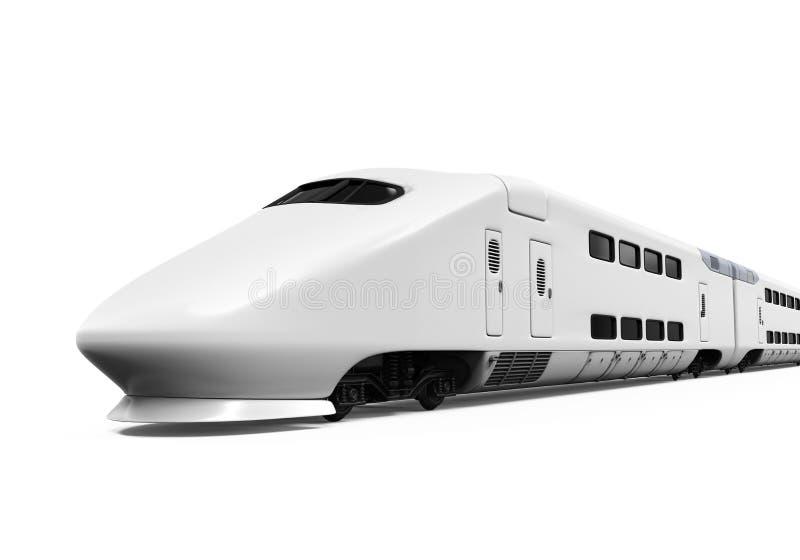 被隔绝的高速火车 皇族释放例证