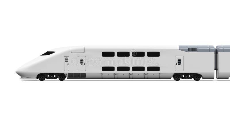 被隔绝的高速火车 向量例证