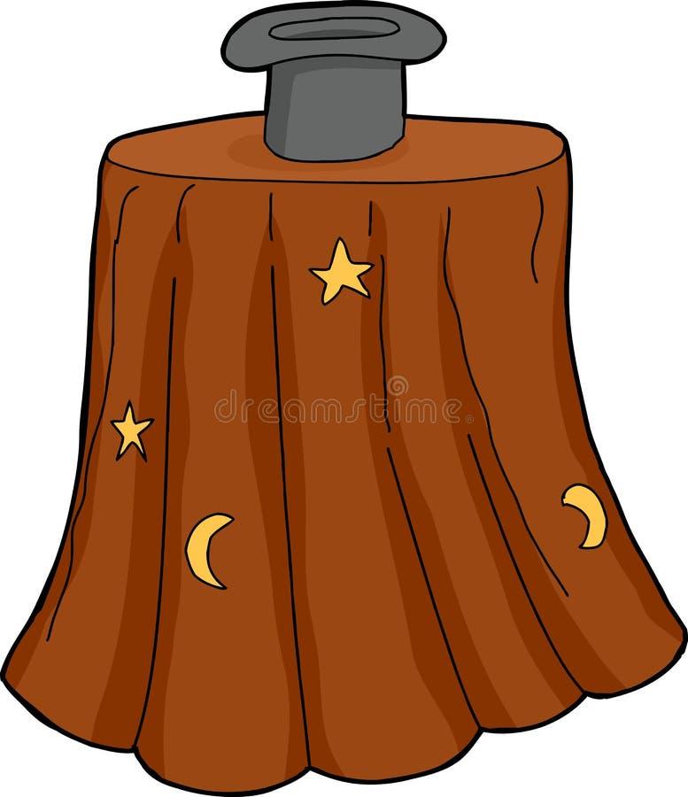 被隔绝的魔术师帽子 皇族释放例证