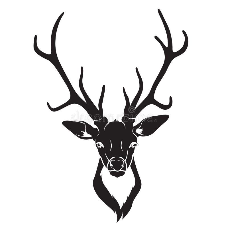 被隔绝的鹿头 皇族释放例证