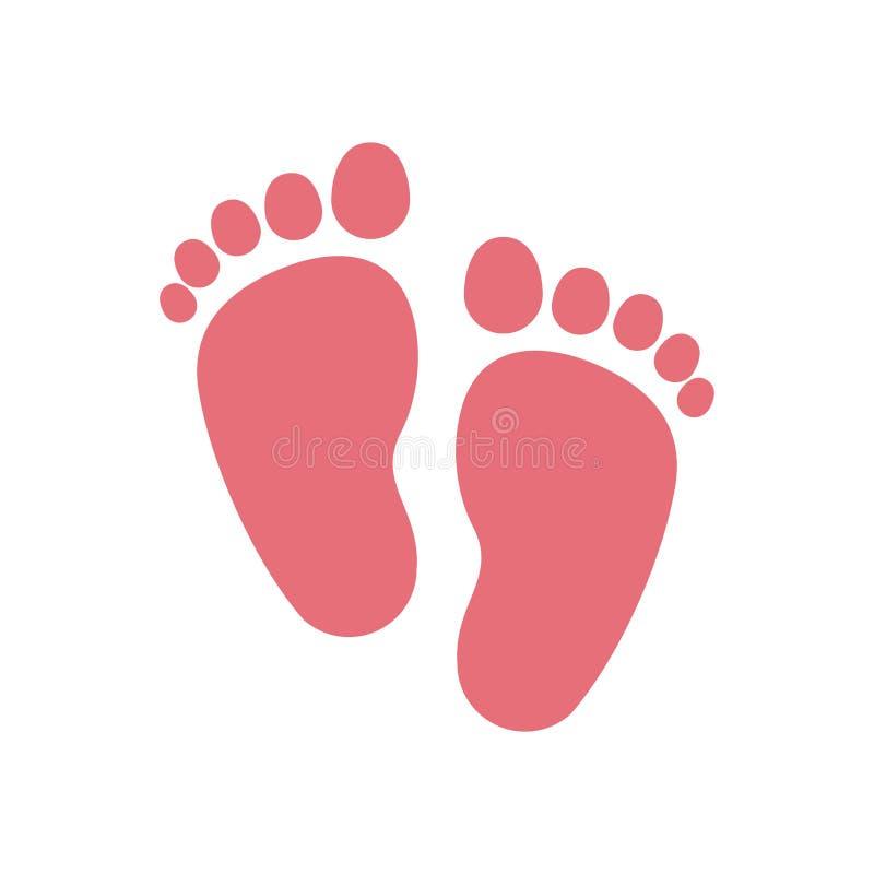 被隔绝的婴孩脚印刷品设计 皇族释放例证