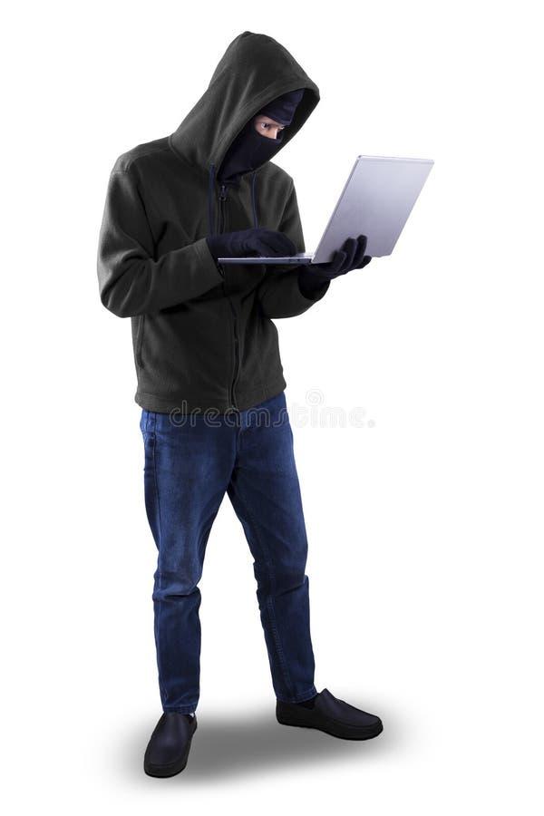 被隔绝的黑客画象 免版税库存图片