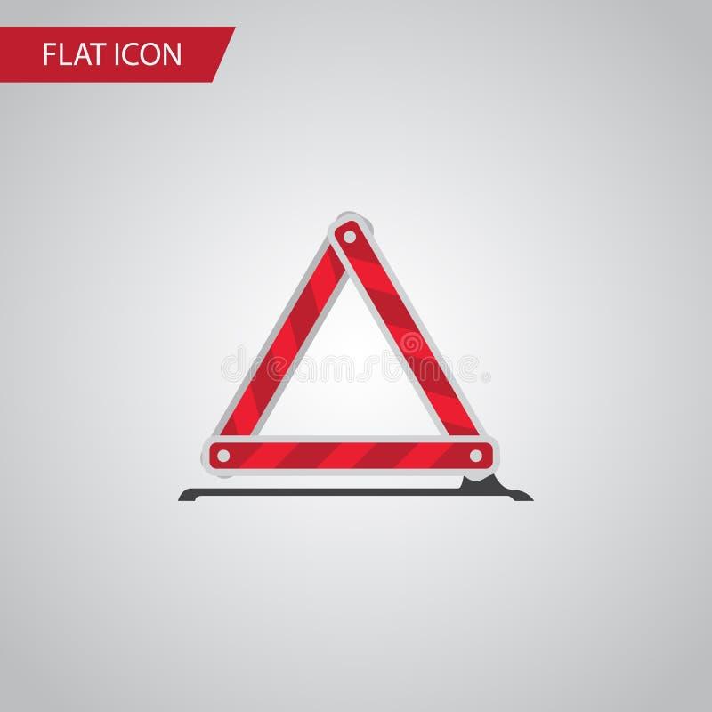 被隔绝的紧急刹车平的象 警告传染媒介元素可以为警告,紧急状态,中止设计观念使用 皇族释放例证