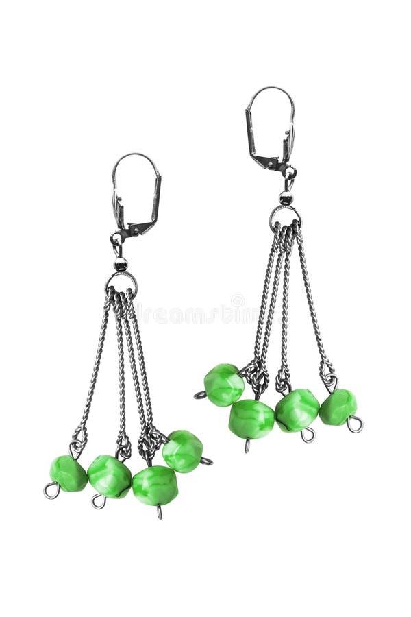 被隔绝的绿沸铜耳环 免版税图库摄影