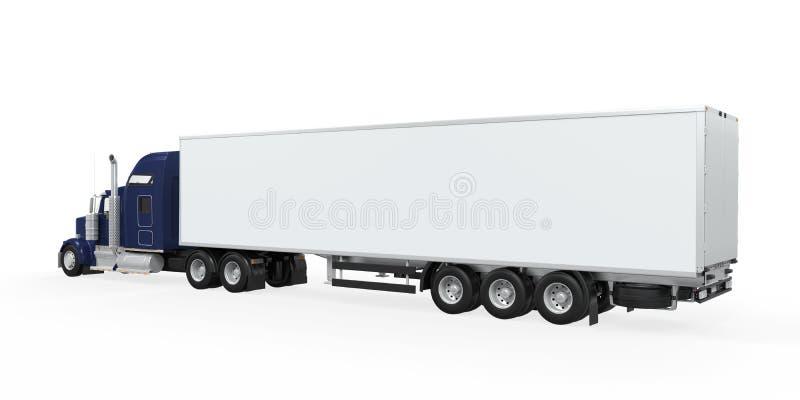 被隔绝的货物卡车 皇族释放例证