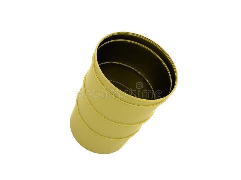 被隔绝的黄色桶 皇族释放例证
