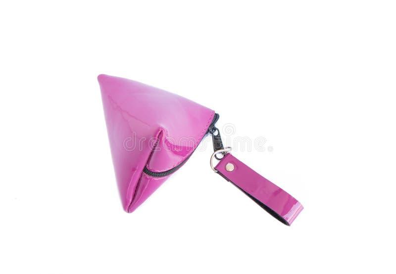 被隔绝的紫色钱包钱包 免版税库存图片