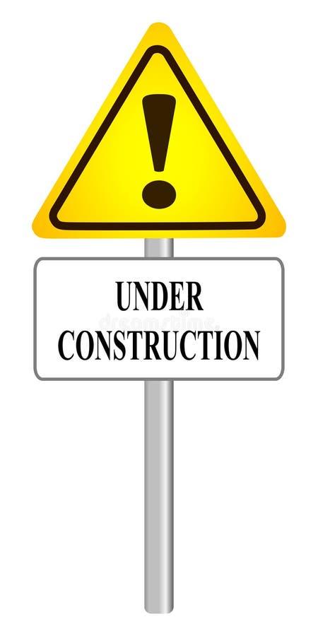 被隔绝的建设中标志 库存例证