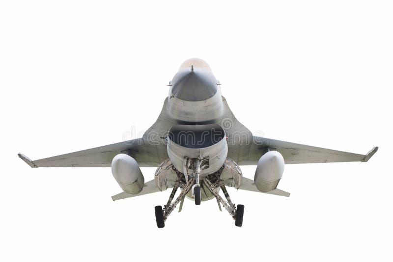 被隔绝的F-16战斗机航空器 库存图片