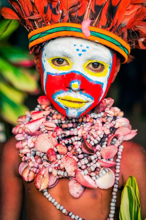 被集中的神色在巴布亚新几内亚 库存照片