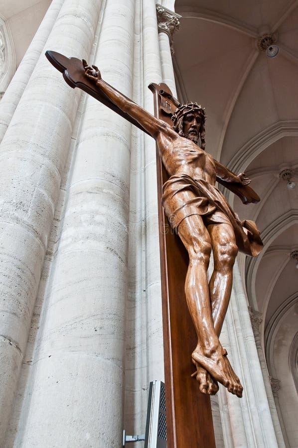 被雕刻的基督・耶稣木头 免版税图库摄影