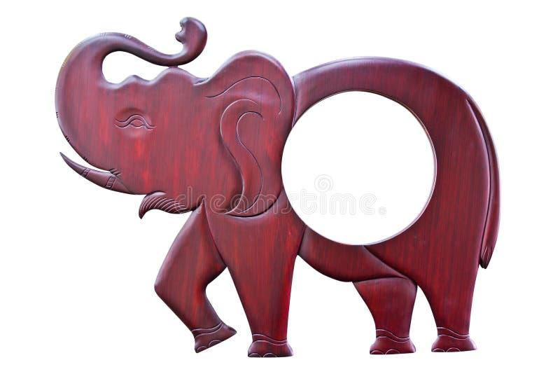 被雕刻的大象木头 库存照片