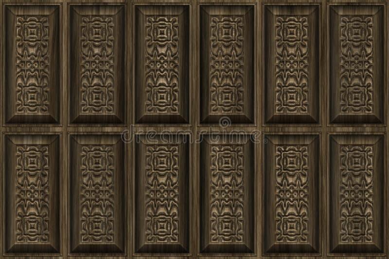 被雕刻的木头 向量例证