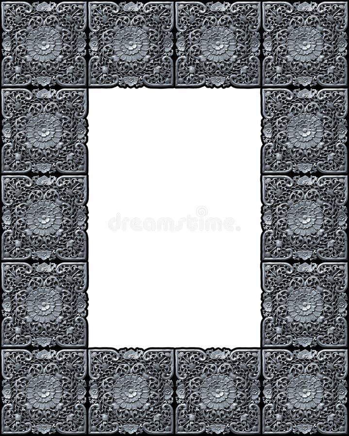 被雕刻的框架 免版税库存照片