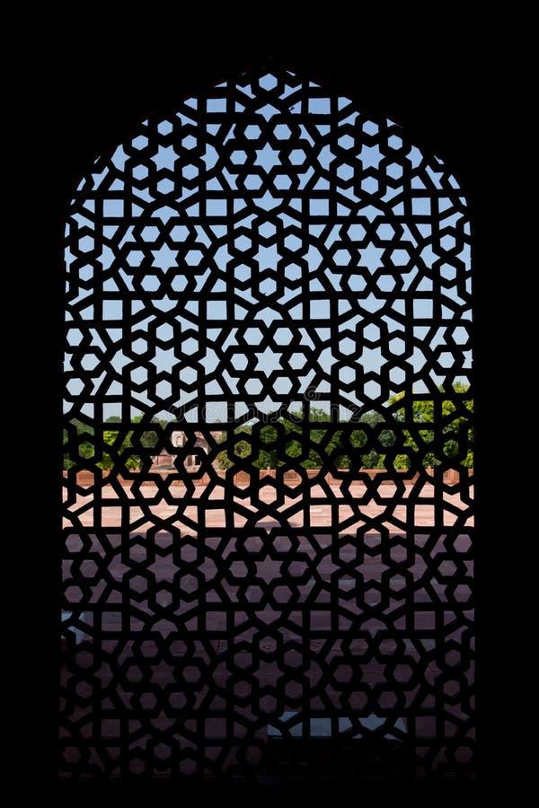 被雕刻的humayun大理石s屏幕坟茔视窗 免版税图库摄影