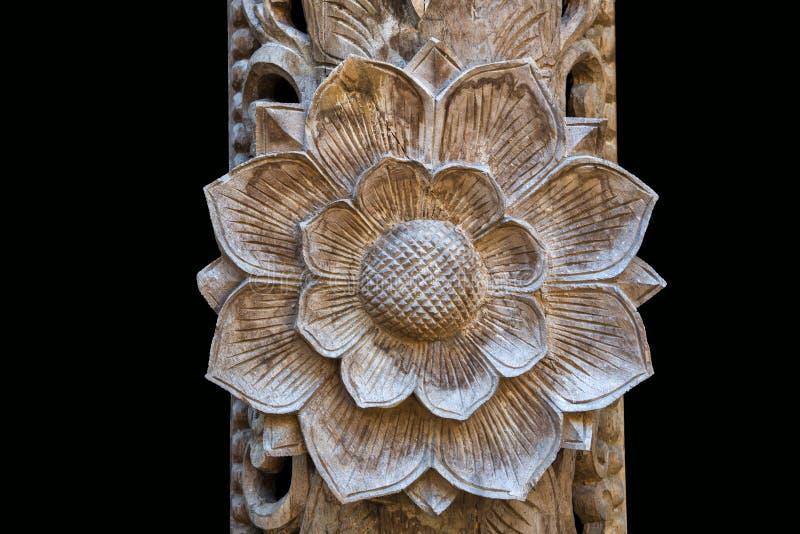 被雕刻的花卉样式 图库摄影