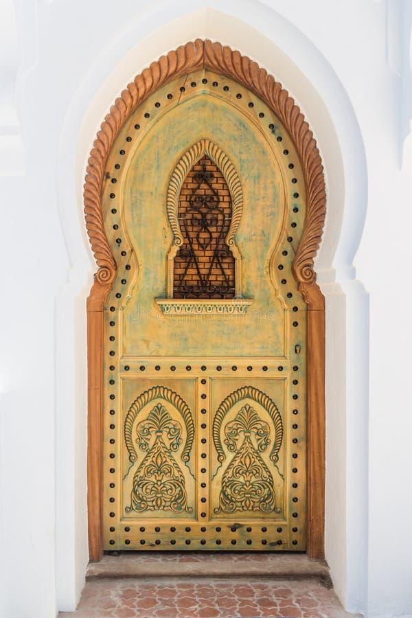 被雕刻的门 图库摄影
