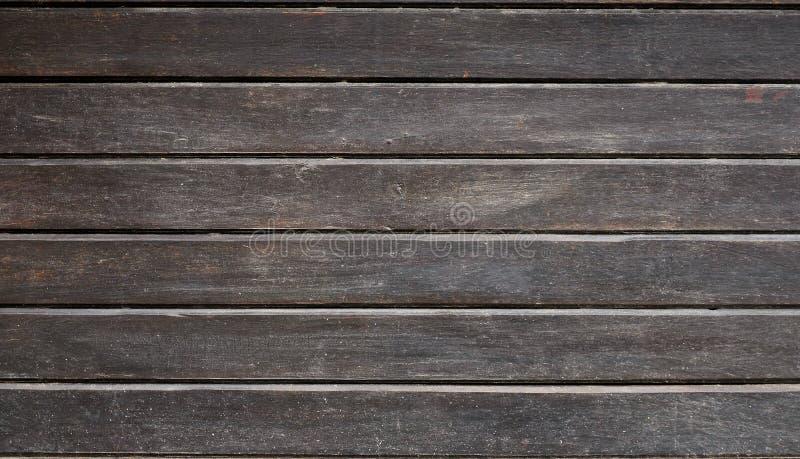 被风化的木墙壁纹理  水平的平的委员会年迈的木板条篱芭  免版税库存照片