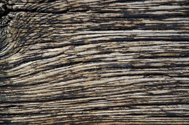 被风化的涂焦油木背景 库存照片