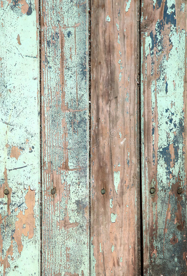 被风化的老木自然蓝色绿松石油漆pe 免版税库存图片