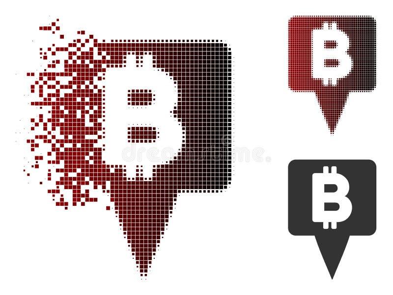 被驱散的小点半音Bitcoin地图尖象 库存例证