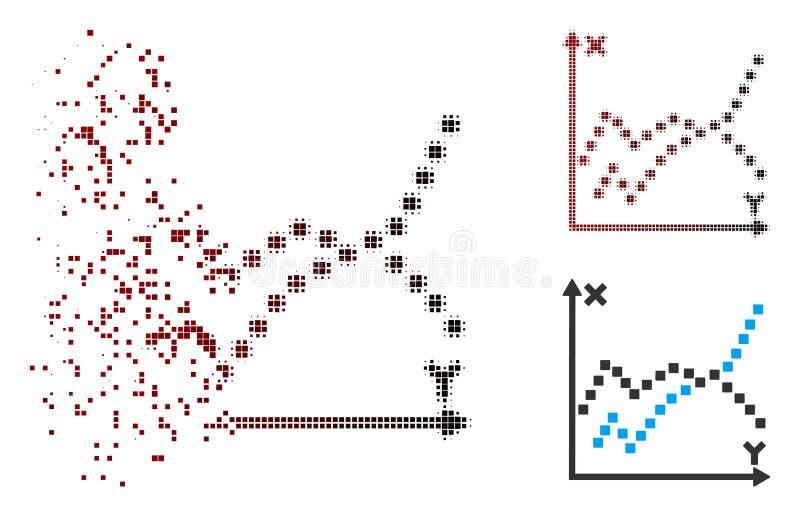 被驱散的映象点半音作用剧情象 向量例证