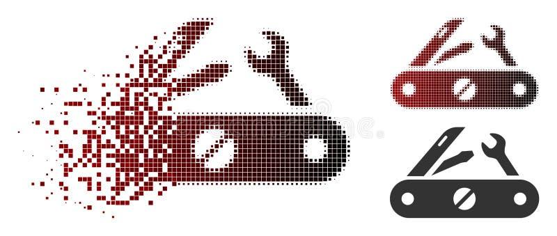 被驱散的映象点半音Multitool刀子象 库存例证