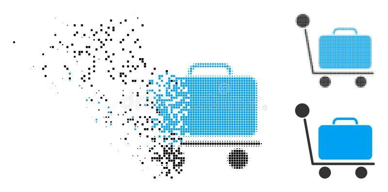被驱散的被加点的半音行李台车象 库存例证