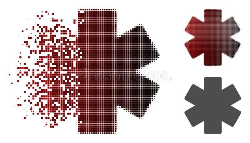 被驱散的Pixelated中间影调倍增算术操作象 皇族释放例证