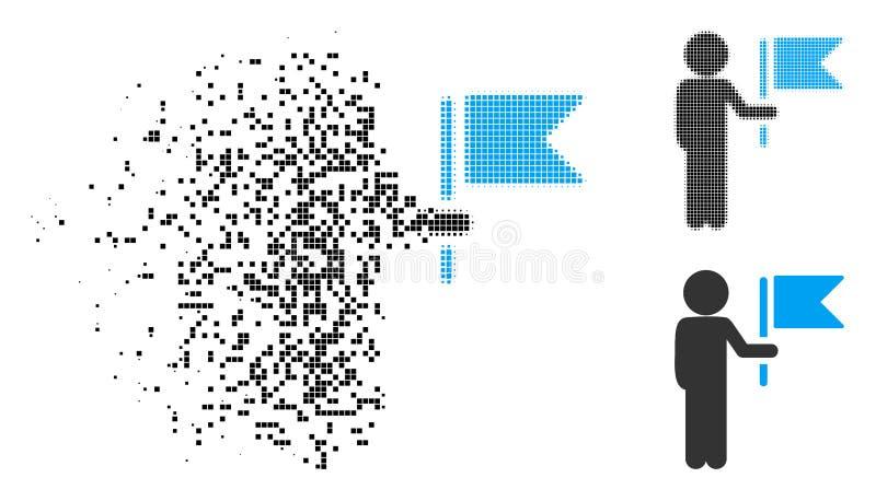 被驱散的Pixelated半音儿童司令员Icon 皇族释放例证