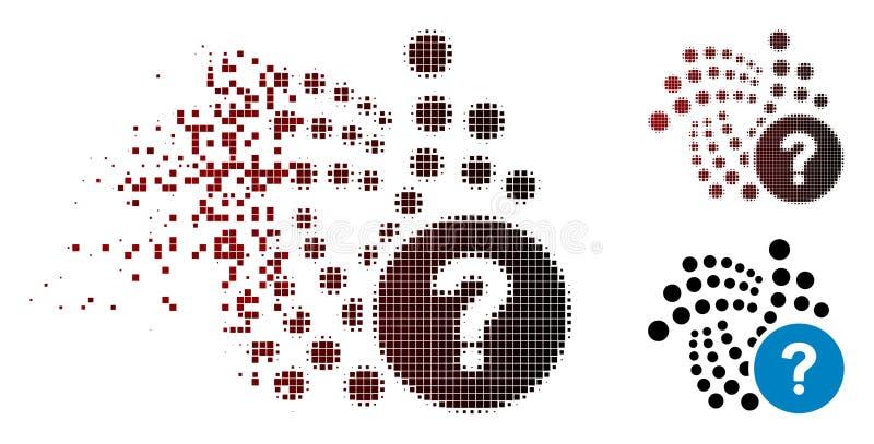 被驱散的Pixelated半音Iota状态问题象 向量例证