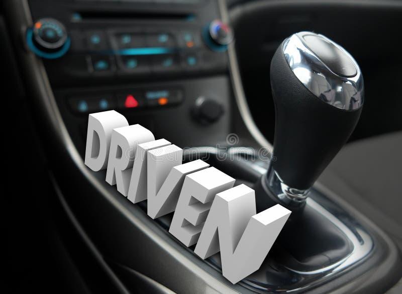 被驾驶的3d词使换中档最快速度志向态度 向量例证
