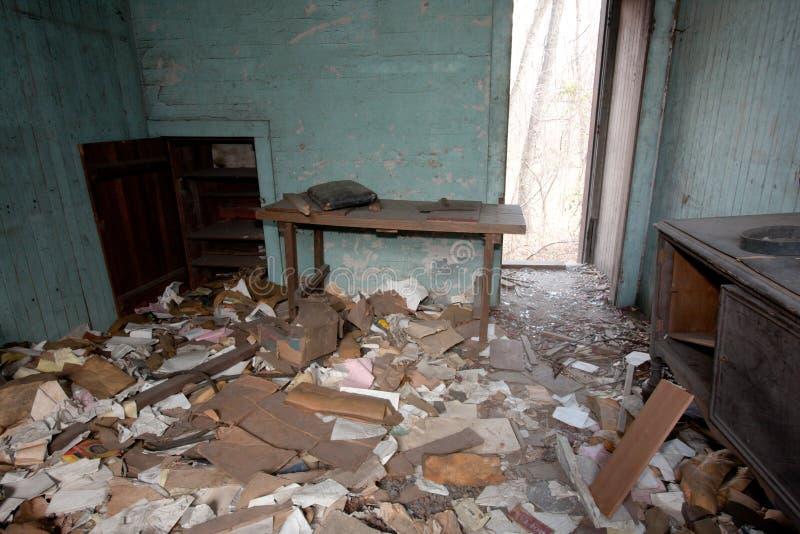 被破坏的议院 免版税库存图片