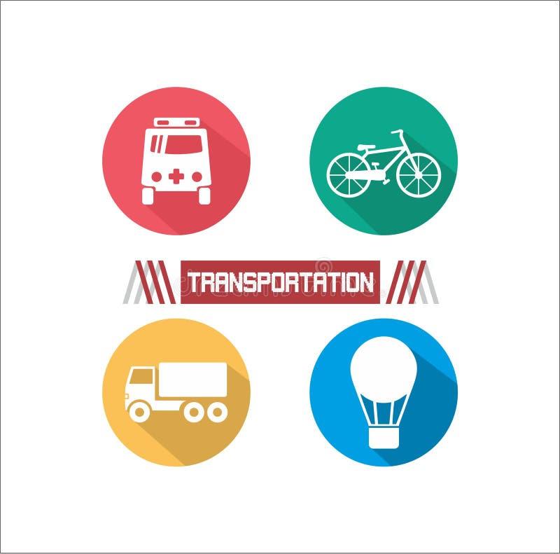 被说明的运输 免版税库存照片