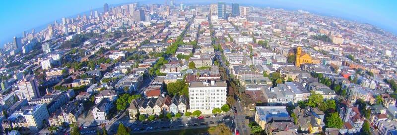 被绘的夫人/七个夫人空中的旧金山 库存图片