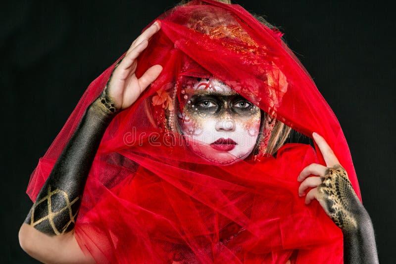 被绘的女孩BB149743 免版税库存照片