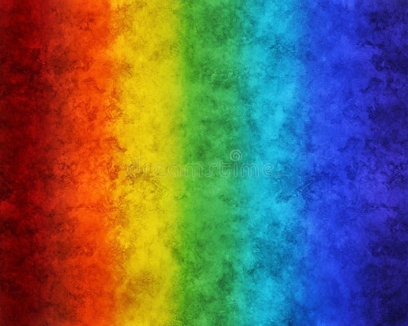 被绘的彩虹背景 库存照片
