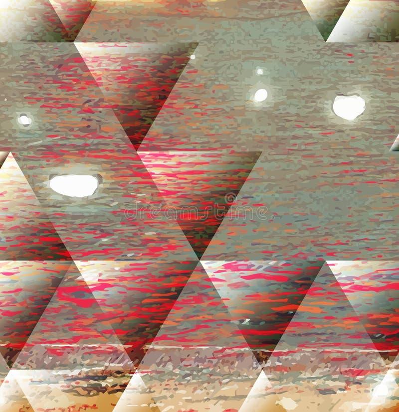 被绘的抽象背景 向量例证