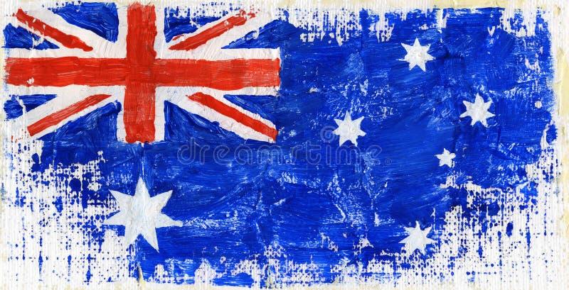 被绘的旗子 免版税库存图片