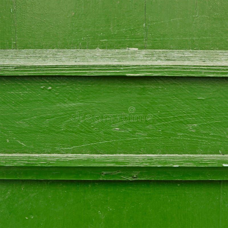 被绘的木篱芭片段 免版税库存照片