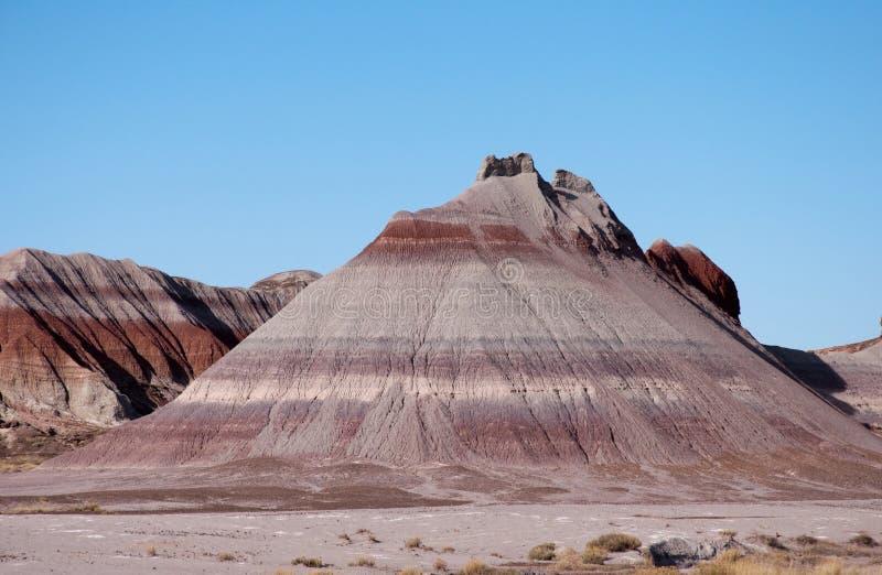 被绘的沙漠 库存图片