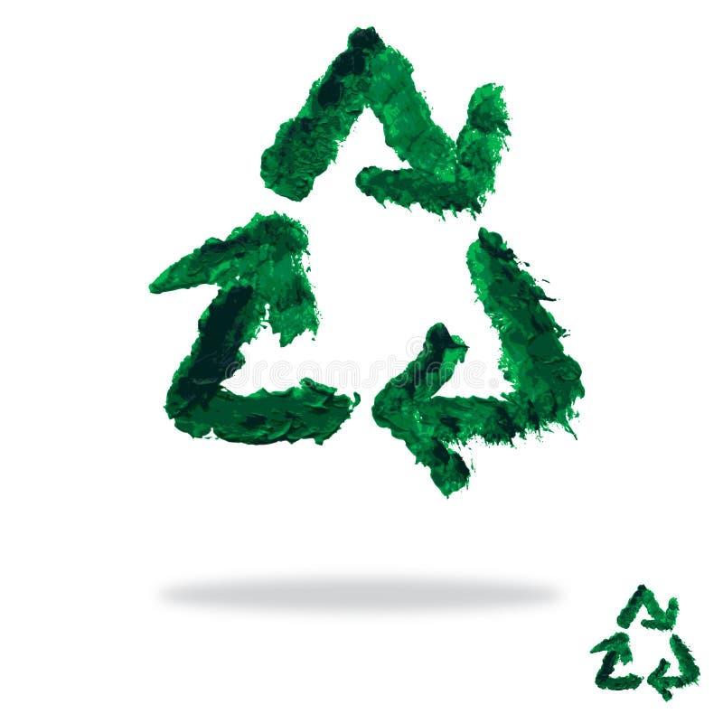 被绘的油回收标志 向量例证