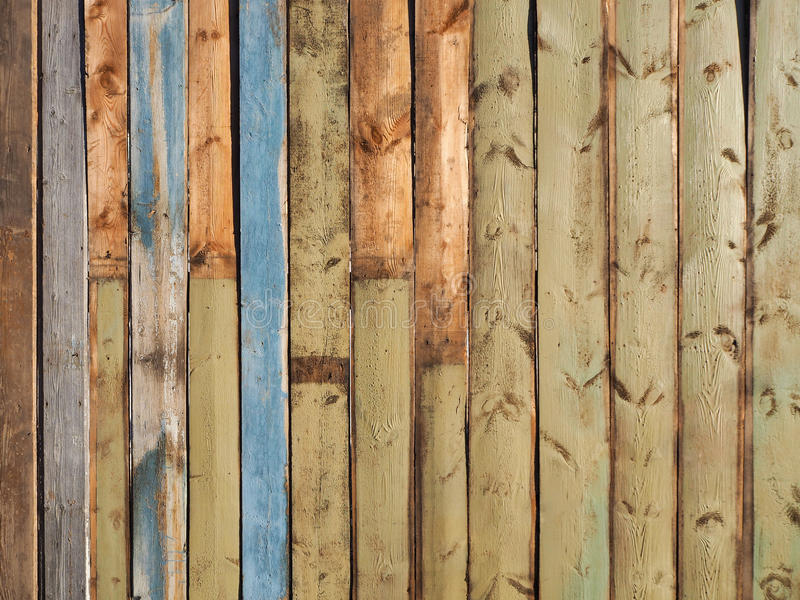 被绘的篱芭背景 Planked木纹理舱内甲板位置照片设计 免版税库存照片