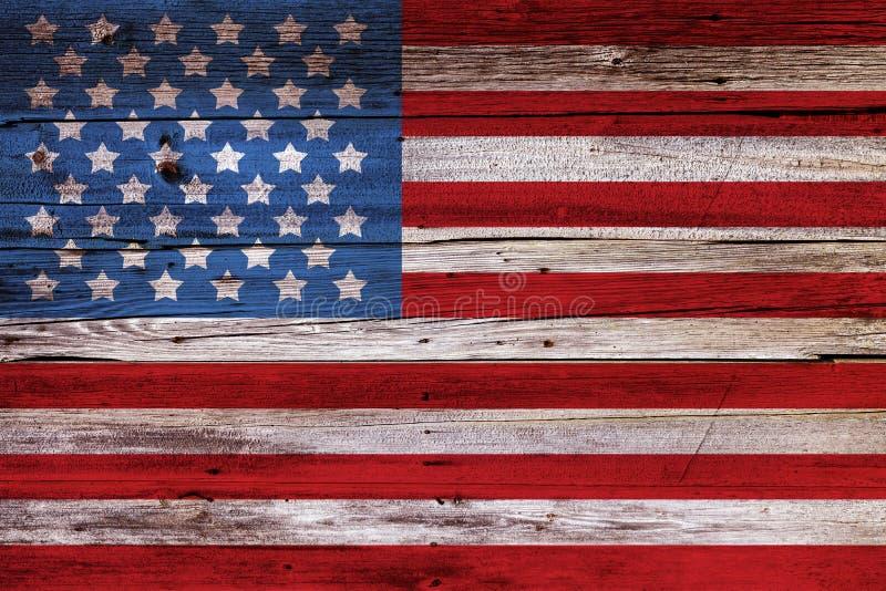 被绘的美国国旗 库存图片