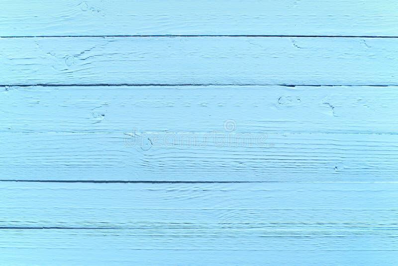 被绘的蓝色木背景纹理 免版税库存图片