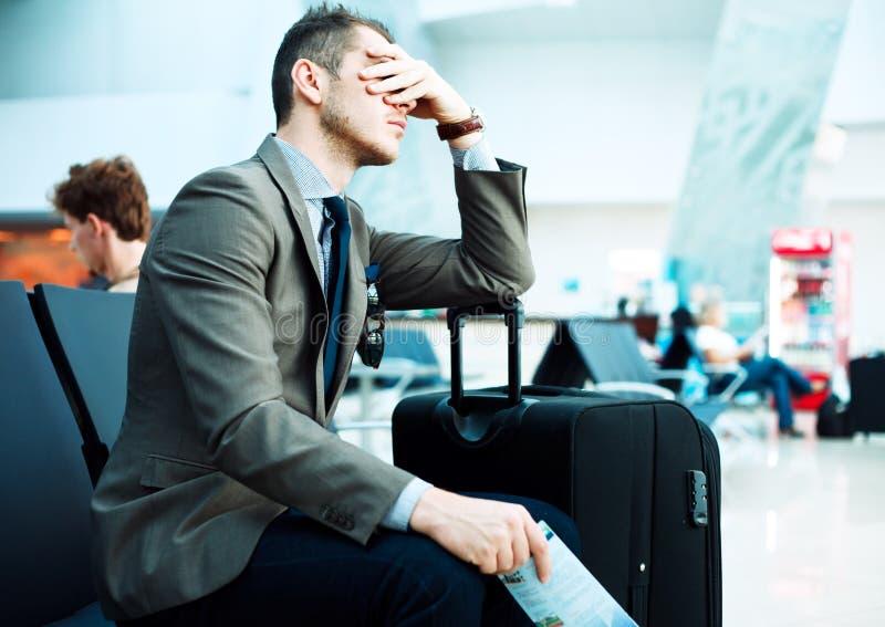 被延迟的飞行 免版税库存图片